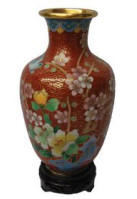 antique enamel or cloisonne vase