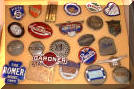 assorted original antique enamel classic car emblems #2