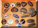 assorted original antique enamel classic car emblems #1