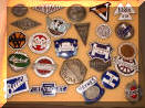 assorted original antique enamel classic car emblems #3