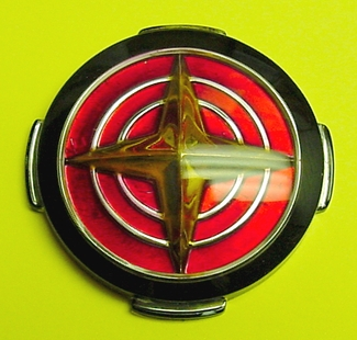 1956 Mercury Meteor wheel hub car emblem