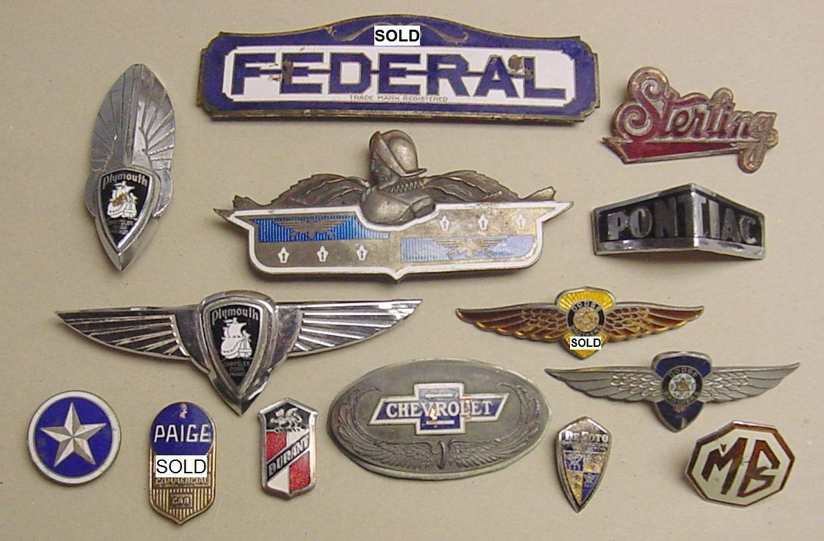 Enameled Emblem Dodge International Sterling Federal Truck Paige Studebaker