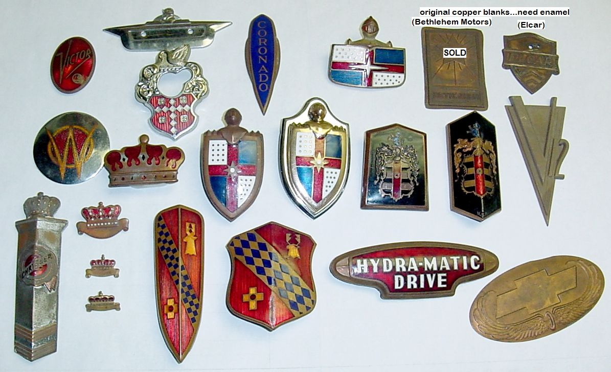 Unrestored Emblems In Stock